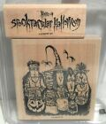 Stampin Up TABLEAU OF TERROR Halloween Witch Costumes Rubber Stamps Set