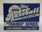 1988 TOPPS BASEBALL TRADED COMPLETE FACTORY SET FROM COMPLETE CASE 1-132 MINT!