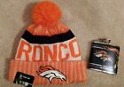 Denver Broncos Beanie and Flask Gift Combo