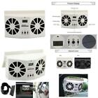 Autolover Solar Powered Car Cool Cooler Fan Auto Front Rear Window Air Vent Exha