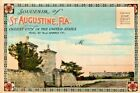 SOUVINER FOLDER OF ST AUGUSTINE FLORIDA POSTCARD FOLDER 20 IMAGES