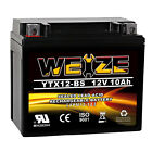Weize Replacement Battery YTX12-BS ETX12 BS For Motorcycle Honda Kawasaki Suzuki