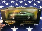 Ertl American Muscle 1973 Ford Mustang Mach 1 Green  Black 118 Diecast in Box