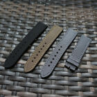 22mm new Fabric/Canvas nylon black brown grey leather back strap for Breitling