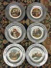 6 Vintage 1776 Great American Revolution Pewter Collectors Plates Canton OH