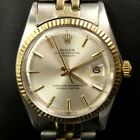 1974 Rolex Oyster Perpetual Datejust 1603 Gold/Steel Two-Tone Wristwatch