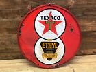 Texaco,sign,vintage, porcelain, double sided, gas and oil, collectable, 8ball,