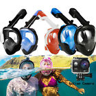 Anti Fog Full Face Mask Swimming Underwater Diving Snorkel Scuba For GoPro Glass