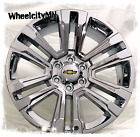 20 inch chrome 2018 2017 Chevy Silverado Tahoe Suburban OE replica wheels 6x55