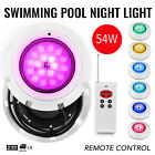 Swimming Pool Light 12V 54W RGB LED W Remote Control Fountain Spring PC Cover