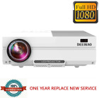 Deeirao 1080P Full HD Home Theater LCD Projector LED Light HDMI USB VGA Native