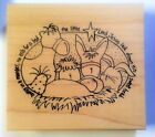 Manger Scene Rubber Stamp Nativity Unusual Bunny Bird Inky Antics Tammy DeYoung