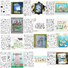 Bunny Mixed Print Transparent Clear Silicone Stamp Seal scrapbooking photo album