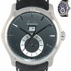 Ebel Classic Hexagon 9301F61 Steel 46mm Black Dial Date GMT Automatic Watch