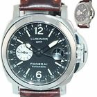 Panerai PAM 88 Luminor GMT Date Automatic Black 44mm Brown Steel Watch PAM00088