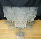 ANCHOR HOCKING Vintage WEXFORD WATER GOBLETS, Set of 8