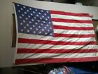 Antique Vintage US American Flag 50 stars Cotton 45 x 70 inches
