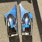 HARLEY DAVIDSON SHARK FIN END CAPS D C FROM HD 65263 97 LARGE holes 3 1 2 nice