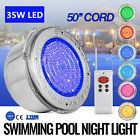 Swimming Pool Light 35W LED RGB W 6 Keys Remote Control Cover Fountain Spring