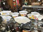 Vintage Fire King lot of 8 GAY FAD Fruits Baking Ware Casserole Mixing Bowls