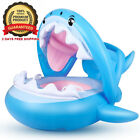 Baby Float Swimming Pool Toddler Floaties with Inflatable Canopy Shark