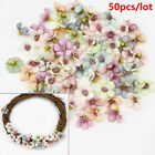50pcs Mini Artificial Fake Flower Silk Daisy Heads Bulk Wedding Party Home Decor