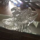 VINTAGE FENTON 6 CLEAR GLASS SLIPPERS HOBNAIL CAT PAIR OF SHOES ADORABLE SHOE