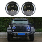 1 Pair 7 Inch Led Headlight Kit With Blue DRL Both Sides for Jeep Wrangler JK CJ
