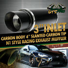 FOR JEEPS 1X USA N1 STYLE STRAIGHT CARBON WRAP STAINLESS STEEL EXHAUST MUFFLER