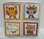 Hero Arts Cat Portraits Rubber Stamps LL078 Set of 4 Kitties wood mounted