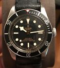 2018 Tudor Heritage Black Bay Black Swiss Diver Watch 79230N-0008 Leather Strap