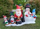 Gemmy Airblown Inflatable Christmas Lighted Yard Decoration Santa Snowman Pengui
