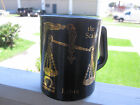 VTG Libra Zodiac Horoscope Mug Black and Gold Excellent Condition Federal Glass