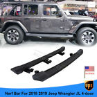ABS Black OE Style Running Boards For 2018 2019 Jeep Wrangler JL Unlimited 4 DR