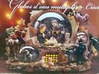 Kirkland Nativity Snow Musical Globe 3 Tier Revolving Base Christmas Religious