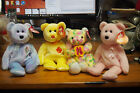 Ty Beanie Baby – Lot of 4 Bears – Cure, Bloom, Bunga Raya, 4 Seasons Hotel