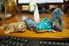 Ty Beanie Baby – Lot of 5 Sea Creatures – Fins, Crunch, Neon, Poseidon