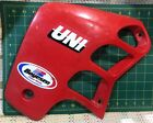'87 HONDA CR125 OEM Side PLASTIC LEFT Stickers Shroud FAIRING RED CR250 cr500 R