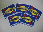 Sunoco Official Fuel of Nascar Stickers Racing Decals Lot of 5 clean never used