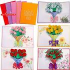 Frienda 5 Pieces 3D Greeting Cards Pop up Card with Envelope for Valentine Birth