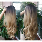 Sexy Womens Blonde Wig Ombre Long Brown Gold Curly Black Synthetic Hair Wigs