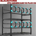 MinerPark Aluminum Open Air Frame Mining Rig Case 6 GPU Stackable Ethereum ZCash