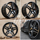 NEW 18 AMG BLACK MACHINE RIMS WHEELS FITS MERCEDES BENZ GLK CLASS GLK350 4MATIC