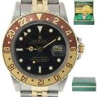 MINT Rolex GMT-Master 16753 Jubilee Two-Tone Root BEER Gold Steel Black Watch
