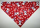 Patriotic Pups  Flags Dog Bandana Scarf Slide over Collar Size Small to XLarge