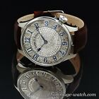 A.Lange & Sohne movement Hand Engraving Stones Swarovsky Skeleton Wrist Watch