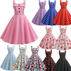 Womens 1950s 60s Vintage Rockabilly Evening Prom Swing Party Dress Dresses US