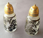 Japanese salt and pepper shakers glass Beautiful