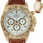 1999 MINT Rolex Daytona Zenith Cosmograph 16518 White Arabic 18k Yellow Gold Wat