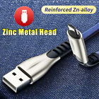 3 10FT Zinc Metal Head 24A Fast Charging Charger Cable Phone Lead for Micro USB